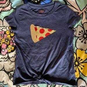 Flip Sequins Pizza Top